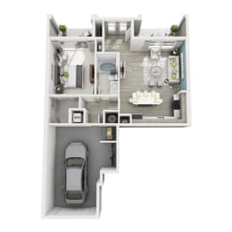 1 Bed 1 Bath Aspire Floor Plan at Altis Shingle Creek, Kissimmee