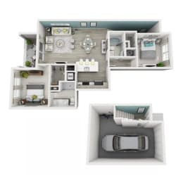 2 Bed 2 Bath Elate (Garage) Floor Plan at Altis Shingle Creek, Kissimmee, FL, 34746