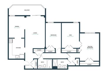 Trillium Two Bedroom with den apartment home in Fairfax, VA