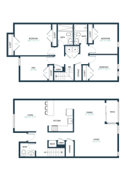 Trillium Three Bedroom with den townhome in Fairfax, VA