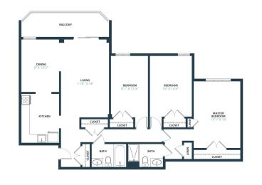 Trillium Three Bedroom apartment home in Fairfax, VA