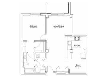 Floor Plan 1X1 924