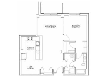 Floor Plan 1X1 942
