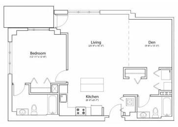 Floor Plan 2X2 1023