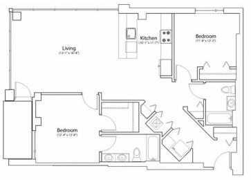 Floor Plan 2X2 1225