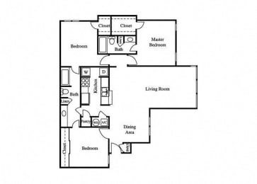 the tulip floorplan layout at greenhouse apartments