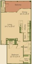 1B Floor Plan at Muir Lake, Texas