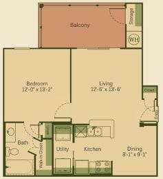 A1 Floor Plan at Muir Lake, Cedar Park, 78613