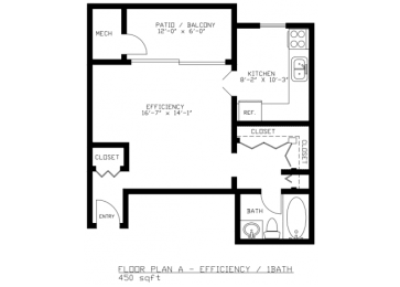 Floor Plan EFFICIENCY
