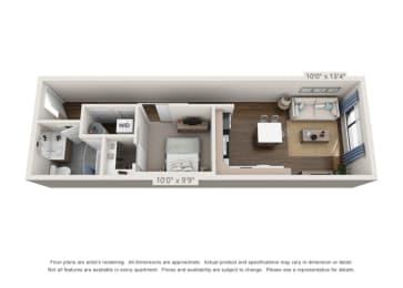 large one bedroom floor plan option for denver