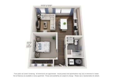 pet friendly apartment layout in denver