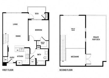 One bedroom One bathroom 1