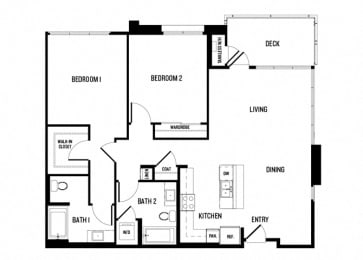 Two Bedroom Two Bathroom 2