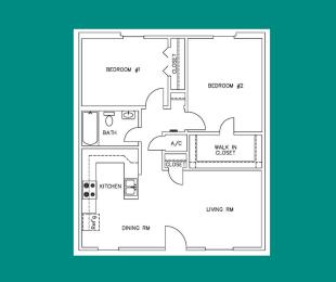 Floor Plan B1 - 2207