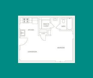Floor Plan E1 - 2207