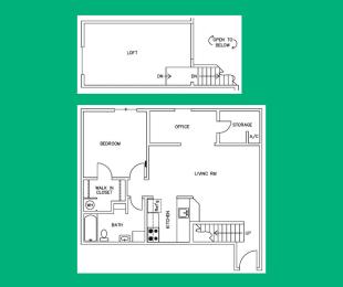 Floor Plan A5 Loft - 2208