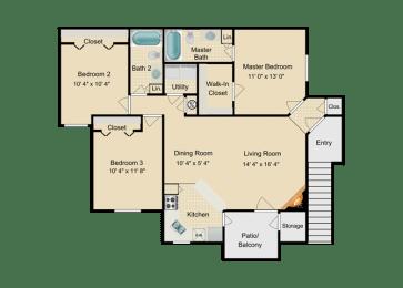 Three Bedroom, opens a dialog
