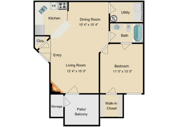 One Bedroom, opens a dialog