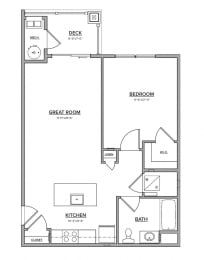 The Preserve at Great Pond One Bedroom - B