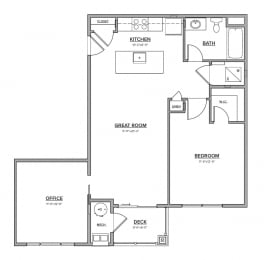 The Preserve at Great Pond Two Bedroom Apartment Home - C