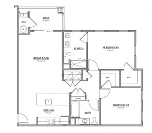 The Preserve at Great Pond Two Bedroom Apartment Home - D