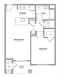 The Preserve at Great Pond One Bedroom Apartment Home - J
