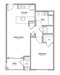The Preserve at Great Pond One Bedroom Apartment Home - K