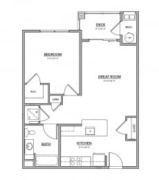 The Preserve at Great Pond One Bedroom Apartment Home - L