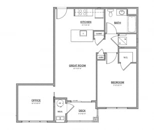 The Preserve at Great Pond Two Bedroom Apartment Home - M