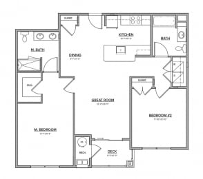 The Preserve at Great Pond Two Bedroom Apartment Home - N