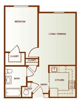 Floor Plan  One- Bedroom