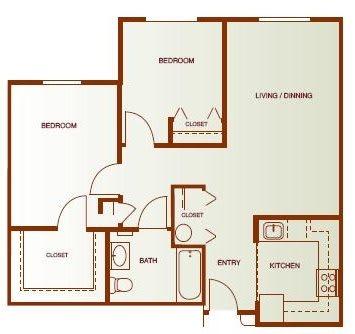 Floor Plan  Two- Bedroom