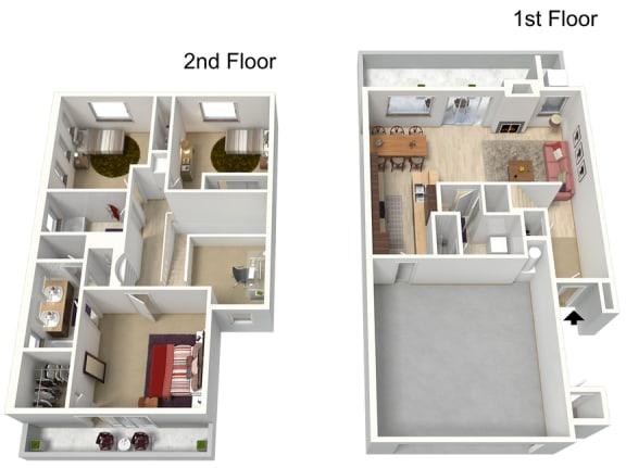 Floor Plan  Three Bedroom 1797 Sq Ft, opens a dialog.