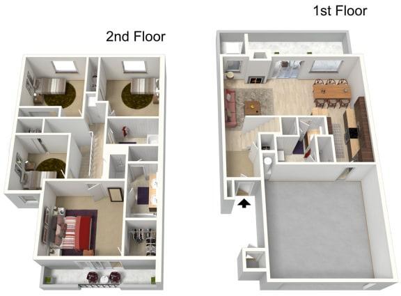Floor Plan  Four Bedroom 1807 Sq Ft, opens a dialog.