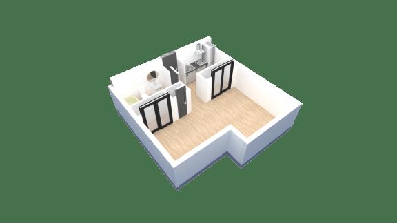 Floor Plan  Studio floor plan at Tanner Gardens in Phoenix, AZ