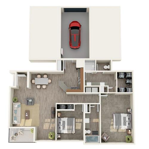 Floor Plan  2 bedroom 2 bathroom floor plan image in Phoenix AZ
