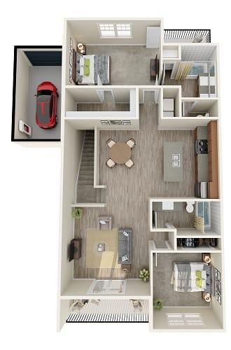 Floor Plan  1 bedroom 1 bathroom floor plan image in Phoenix AZ