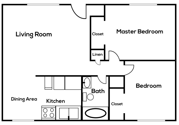 Floor Plan  2 bedroom 2 bathroom  at Zona Village in Tucson Arizona