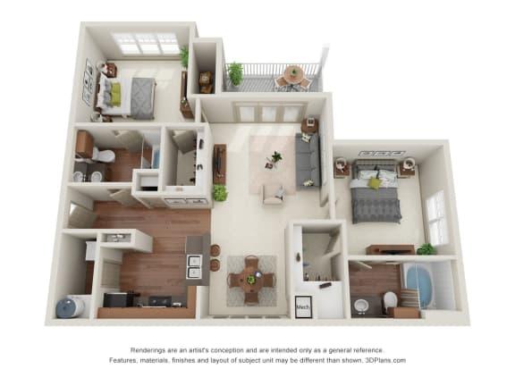 Floor Plan  Beech 3D Floor Plan