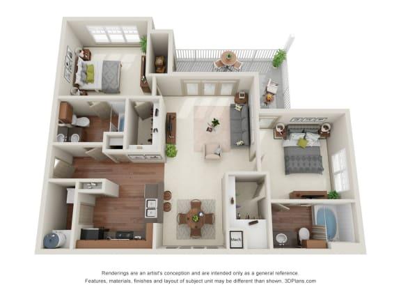 Floor Plan  Birch 3D Floor Plan