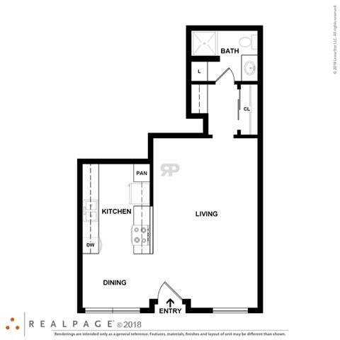 Floor Plan  Palm Central South Apartments studios
