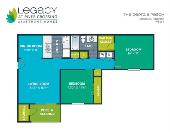 Floor Plan  The Georgia Peach