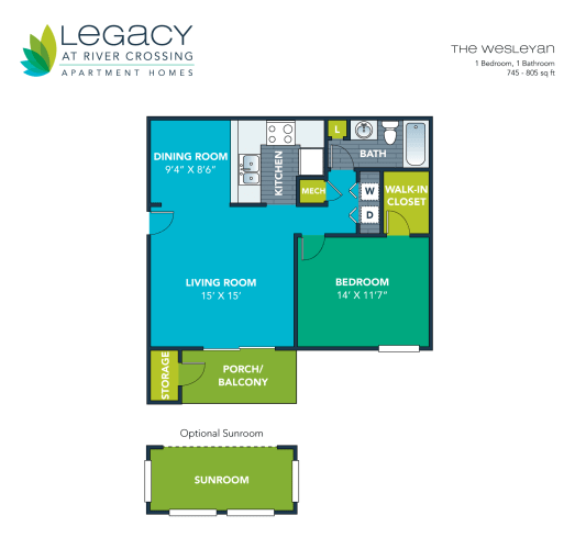 Floor Plan  The Wesleyan