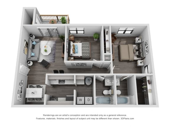 Floor Plan  Avisa Lakes Beauregard 2 bedroom apartment for rent