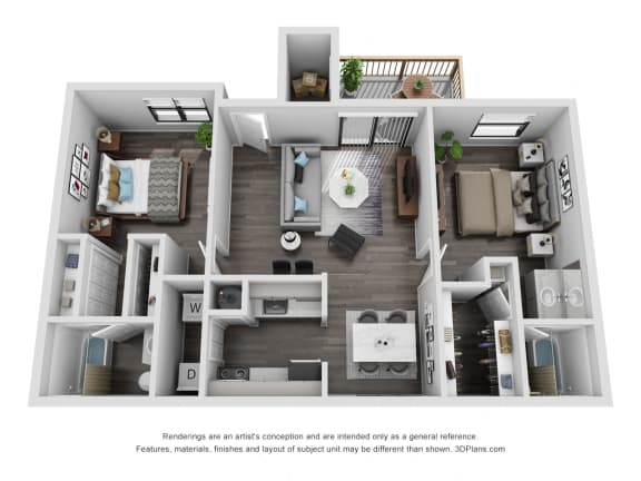 Floor Plan  Avisa Lakes Tara 2 bedroom apartment for rent