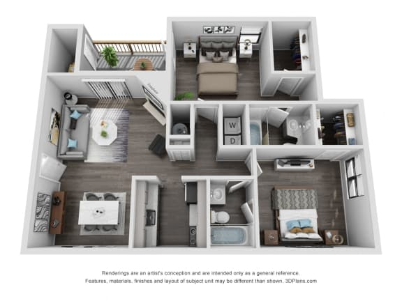 Floor Plan  Avisa Lakes Terrabone 2 bedroom apartment for rent