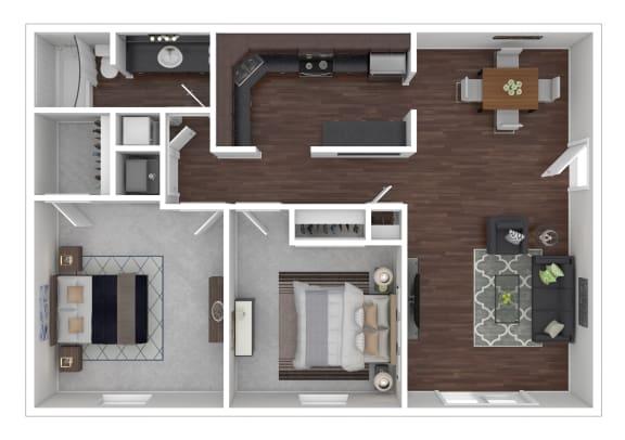 Floor Plan  2/1