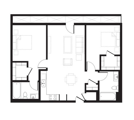 Floor Plan  Unit J