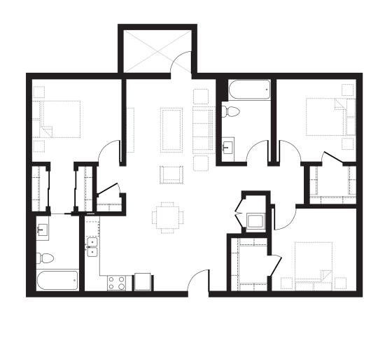 Floor Plan  Unit T