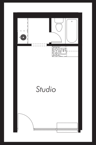 Floor Plan  Studio: Beds-1: Baths-1: Sq Ft Range - 275-275